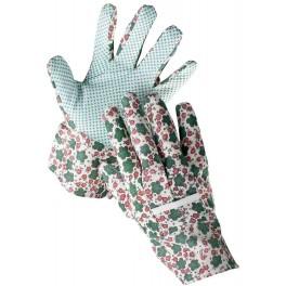 Rukavice dámské, velikost 9, květované, AVOCET, KVET