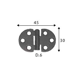 Pant černý, 30 x 45 mm, kruhový, SP1458