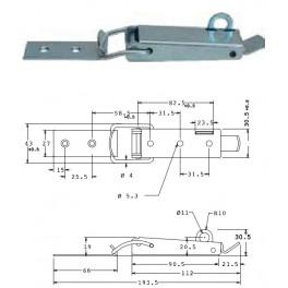 Bednový uzávěr, 43 mm, uzamykatelný, SP1485