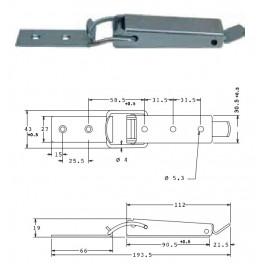 Bednový uzávěr, 43 mm, SP1480
