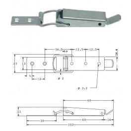 Bednový uzávěr, 23 mm, SP1505