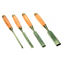 Sada dlát, 8 - 12 - 19 - 25 mm, dřevěná rukojeť, hobby, 25500
