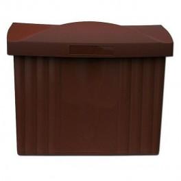 Poštovní schránka, plastová, ležatá, 400 x 150 x 340 mm, hnědá, 040221