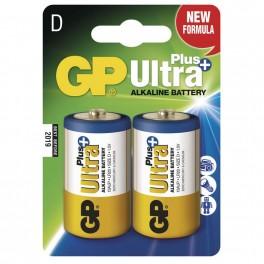 Alkalická baterie, GP Ultra Plus, LR20, D, 2 ks blistr, B1741, EM-B1741