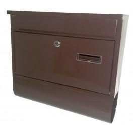 Poštovní schránka RADIM s rourou, 335 x 30 mm, hnědá, 040418