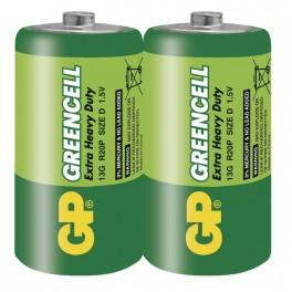 Zinkochloridová baterie GP Greencell R20, D, fólie, B1240, Emos, EM-B1240