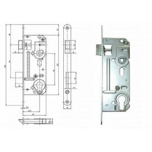 Zámek 63 mm 02-06 P/L Zn, HOB02-06