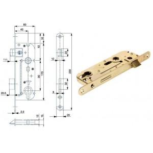 Zámek 60mm 02-04A P/L Zn, HOB02-04A