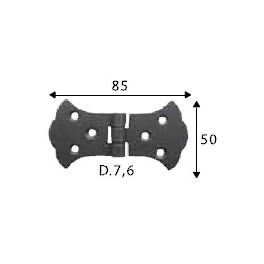 Pant černý, 50 x 85 mm, ozdobný, SP1457